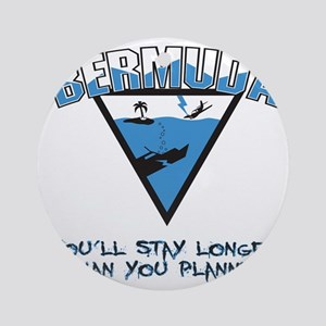 Bermuda Triangle B - light Round Ornament