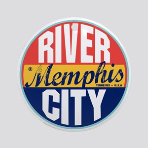 Memphis Vintage Label Ornament (Round)