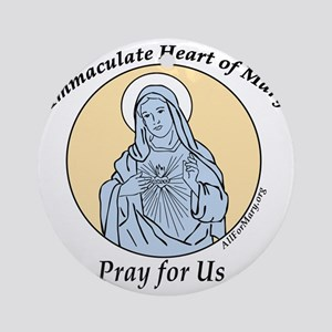 Immaculate Heart Round Ornament