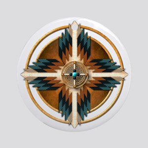 Native American Mandala 02 Round Ornament