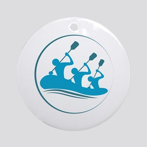 River Rafting Ornament (Round)