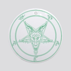 baphomet-green Round Ornament
