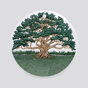 The Wisdom Tree Round Ornament