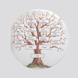 Ancestor Tree Round Ornament