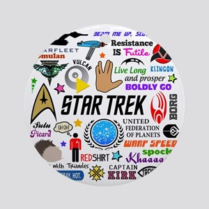 Trekkie Memories Round Ornament