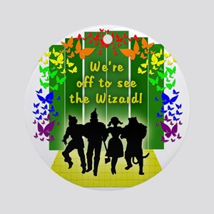 Off to see the Wizard of Oz Round Ornament