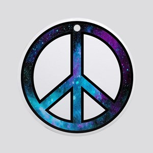 Galactic Peace Round Ornament
