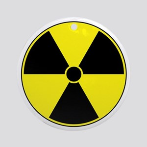 Radiation Symbol (yellow) Ornament (Round)