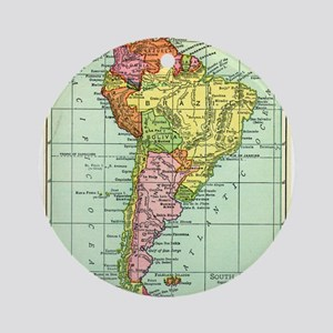 South America Map Ornament (Round)