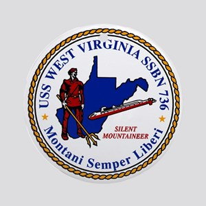 USS West Virginia SSBN 736 Ornament (Round)
