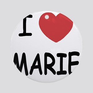 I heart MARIE Round Ornament