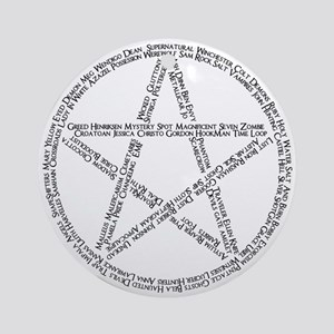 Pentacle Writing Ornament (Round)