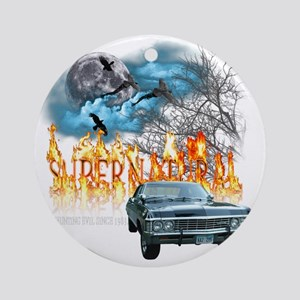 SUPERNATURAL 1967 chevrolet impala  Round Ornament