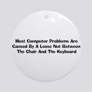 Loose Nut At Keyboard Ornament (Round)