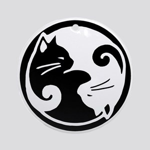Yin Yang Cats Ornament