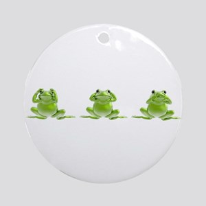 3 Frogs! Ornament (Round)
