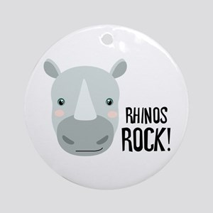 RHINOS ROCK! Ornament (Round)