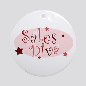"""Sales Diva"" [red] Ornament (Round)"
