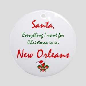 New Orleans Christmas Ornament (Round)
