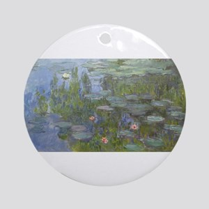 Claude Monet's Nympheas Round Ornament
