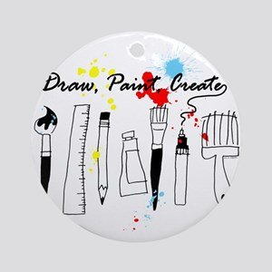 Draw Paint Create (Color) Round Ornament