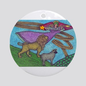 The Lion and the Lamb Round Ornament
