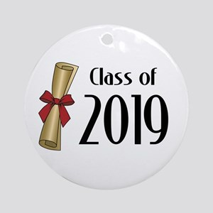 Class of 2019 Diploma Round Ornament