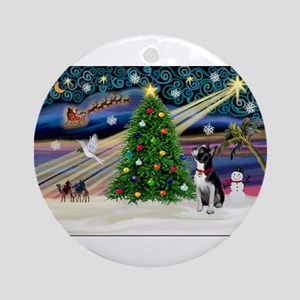 Boston Terrier - Christmas Magic Round Ornament