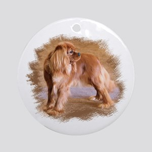 Cavalier King Charles Spaniel Ruby Round Ornament