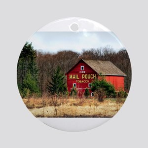 mail pouch barn (2) Round Ornament