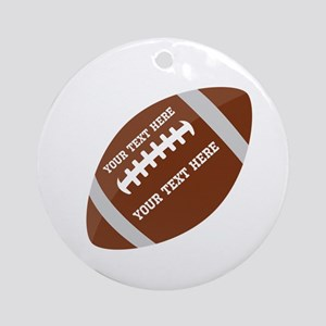 Football Sports Customized Round Ornament