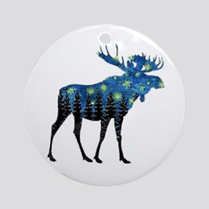 NORTHWOODS SUMMER NIGHT  Round Ornament