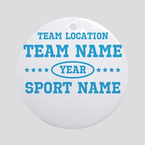 Sports Team Round Ornament