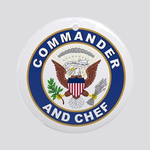 commander and chef Round Ornament
