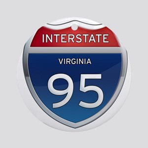 Interstate 95 Round Ornament
