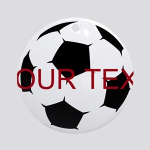 Soccer Ball Round Ornament