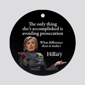 HILLARY ONLY THING Round Ornament