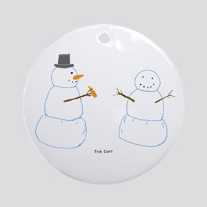 Snowman Donor The Gift Ornament (Round)
