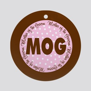 Polka Dot Groom's Mother Ornament (Round)
