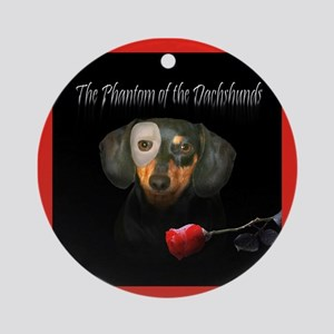 Phantom Doxie Ornament (Round)