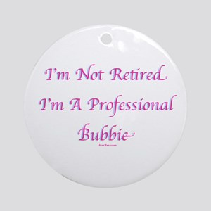 Professional Bubbie Yiddish Ornament (Round)