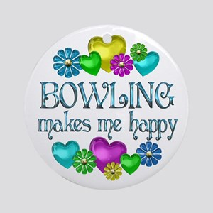 Bowling Happiness Ornament (Round)
