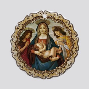 Mary and Baby Jesus Ornament (Round)