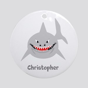 Personalized Shark Design Ornament (Round)