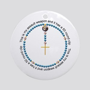 Rosary Ornament (round)