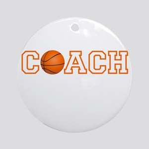 Basketball Coach Round Ornament