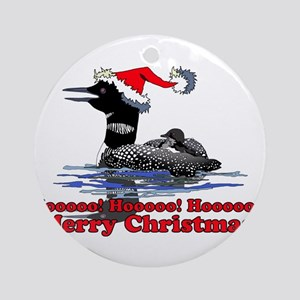 Christmas Loon Ornament (Round)