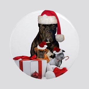Christmas Cane Corso Ornament (Round)