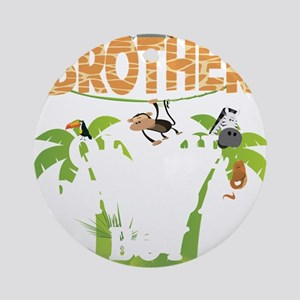 Brother Of The Birthday Boy Zoo The Round Ornament
