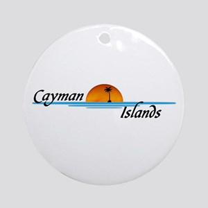 Cayman Islands Sunset Ornament (Round)